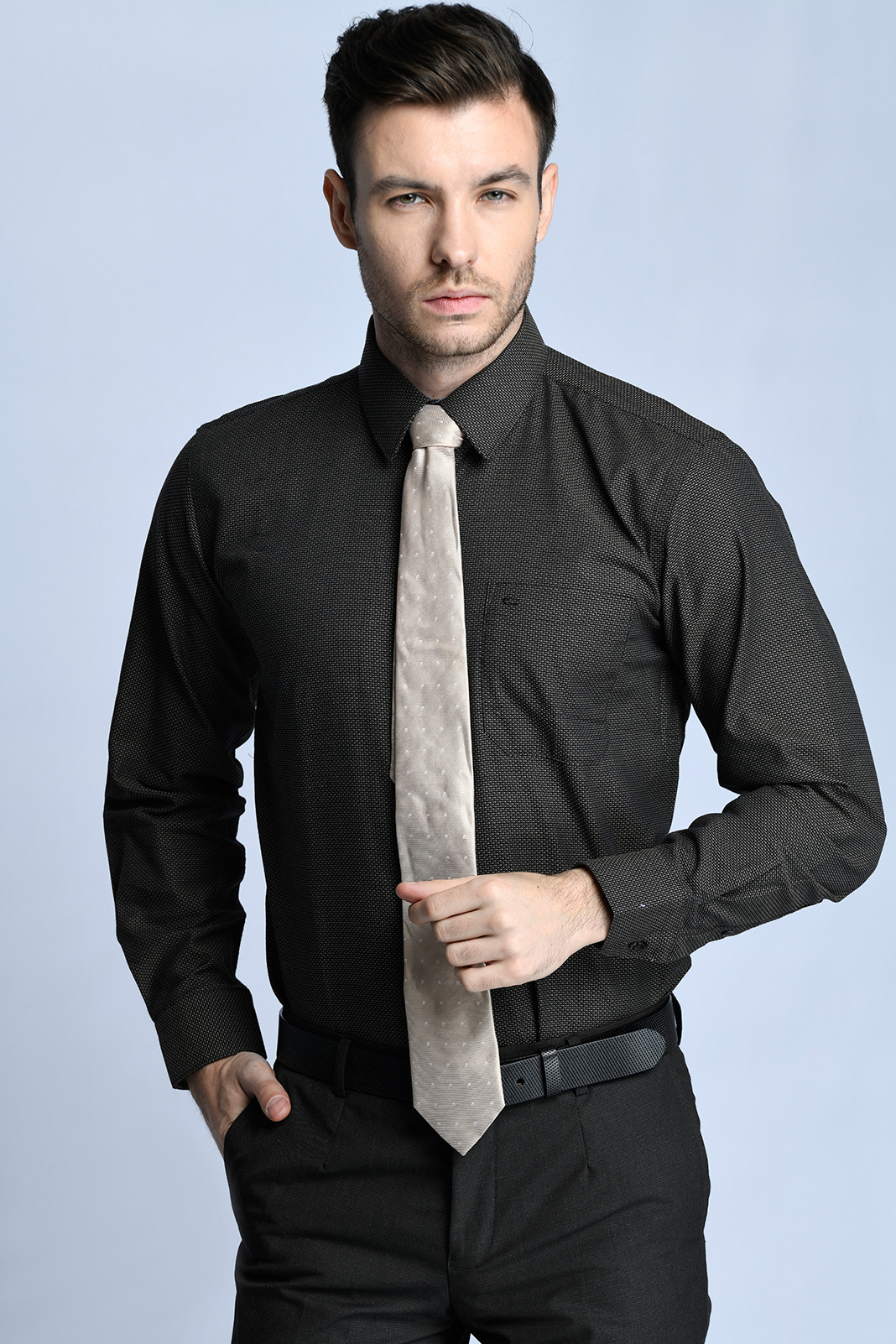 KEMEJA TANGAN PANJANG FORMAL SLIM FIT 10 (HITAM)