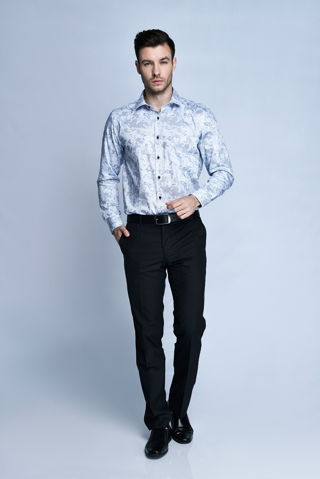 KEMEJA TANGAN PANJANG FORMAL SLIM FIT 11 (BIRU)