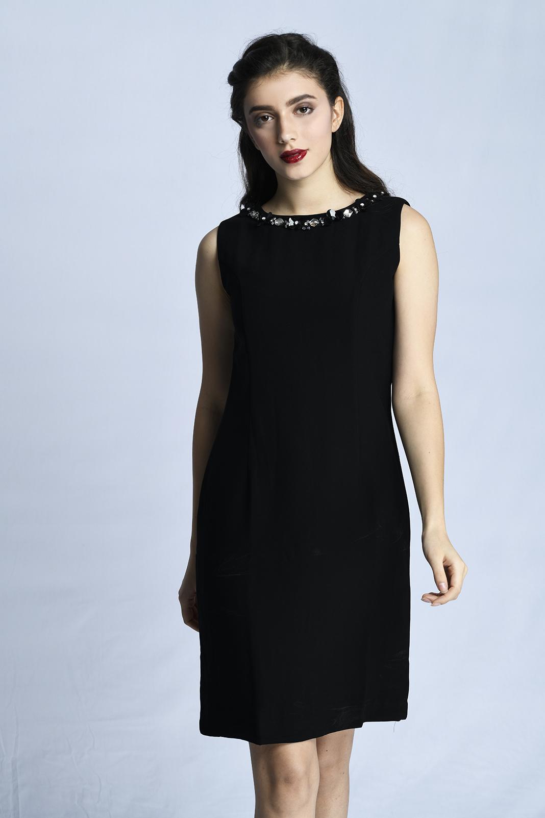CARDINAL FEMME DRESS 2 (HITAM)