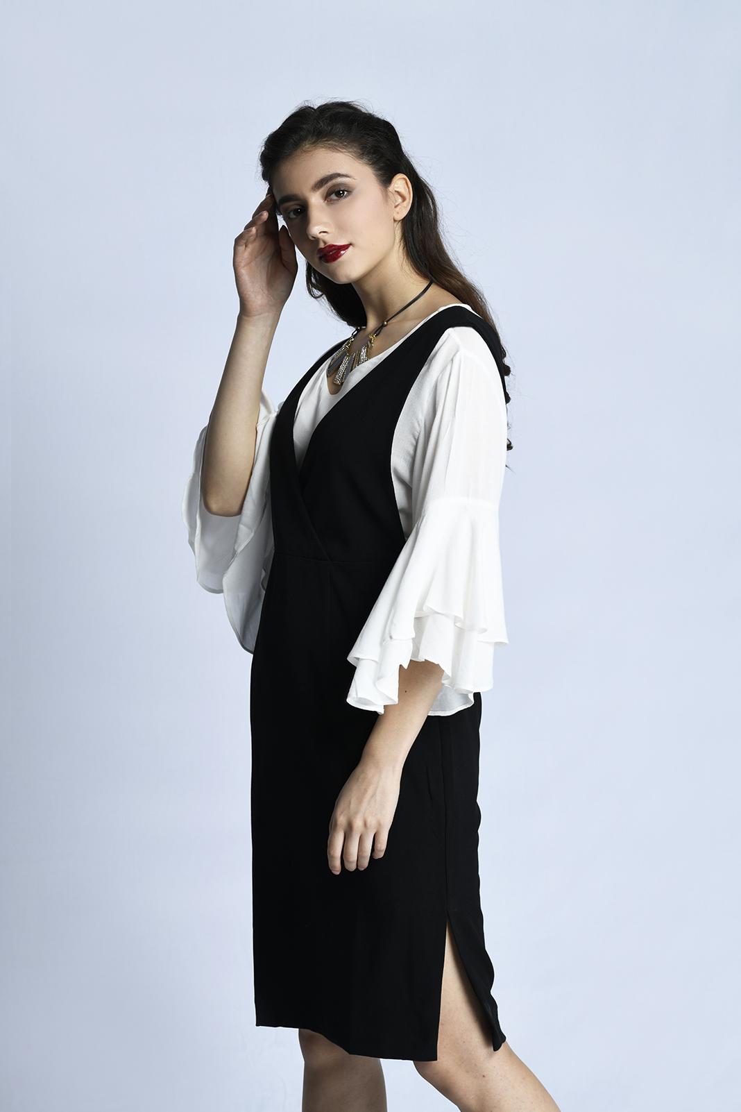 CARDINAL FEMME DRESS 5 (HITAM)